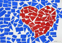 How to Make a Paper Mosaic: 6 Steps - wikiHow Paper Mosaic, Mosaic Crafts, Mosaic Projects, Mosaic Art, Art Projects, Paint Swatch Art, Mosaics For Kids, Tears Art, Cadeau Parents