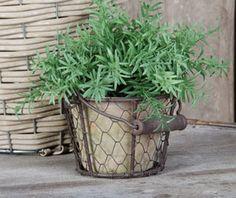 Pot de fleur en terre cuite panier grillagé 1 à 4 pots Corbière