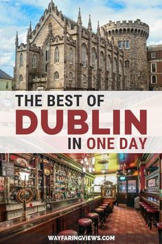 See the best of Dublin in a day. Get two different itineraries that include the must see sights in Dublin. These things to do includes pubs, trinity college, castles and where to eat. Travel The Complete Guide for Doing Dublin in a Day Dublin Travel, Ireland Travel Guide, Europe Travel Tips, Travel Guides, Travel Destinations, Travel Maps, Traveling To Ireland, Van Travel, Travel Vlog