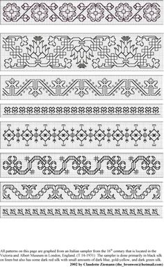 Gallery.ru / Фото #64 - узоры, мотивы, сэмплеры - ksulik75 Motifs Blackwork, Blackwork Cross Stitch, Blackwork Embroidery, Cross Stitch Borders, Cross Stitch Kits, Cross Stitch Designs, Cross Stitching, Cross Stitch Embroidery, Embroidery Patterns