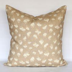 Kelly Wearstler Feline Beige/Ivory Designer Pillow by StuckOnHue
