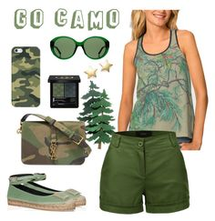 Go camo by clipso-callipso on Polyvore featuring мода, LE3NO, Roger Vivier, Yves Saint Laurent, Bloomingdale's, Casetify, The Row and Gucci