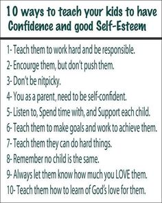 How to Teach your Child to have Confidence and good Self-Esteem! #teaching