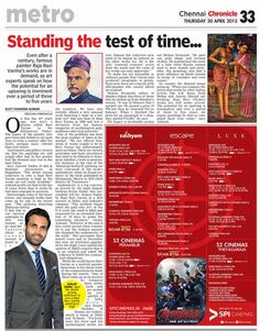 STANDING THE TEST OF TIME - Deccan Chronicle, Chennai, 30 April 2015