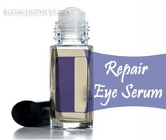 natural eye serum for dark circles and fine lines - homemade beauty DIY