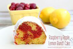 Raspberry Ripple Lemon Bundt Cake - a lemon bundt cake with a fun and ...
