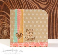 card with polka dots and wasabi tape