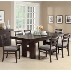 Coaster Company Dabny Wood Dining Table (Cappuccino), Brown