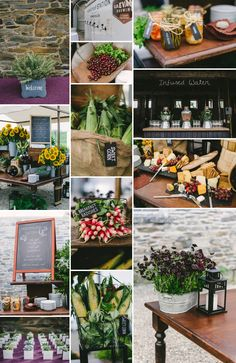 We loved working with Jordan and Chris at their beautiful Rhinebeck wedding at Grasmere Farm. The design was rustic chic - from the floral arrangements, to the cocktail stations, chalkboard menus and more.  #wedding #rhinebeck #rustic