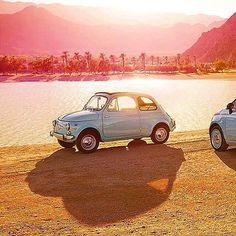 Io voglio questo!!! Sole caldo mare e una bellissima Fiat 500! (by fiat500_vintage on Instagram) http://ift.tt/1lxIEna - il portale del cinquecentista felice! #fiat500 #cinquecento #vintage #fiat500nelmondo