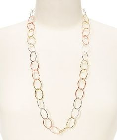 Look what I found on #zulily! Rose Gold & Silver Link Necklace #zulilyfinds