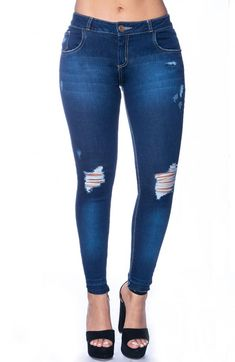 a7bb8edf11 Jeans Levanta Cola Tobillero Bolsillo Bota Cropped