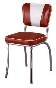 Classic mid-century mod diner chair. I have this set with a huge table in yellow!  Love it!