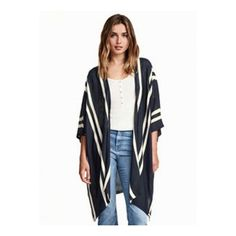 Women's Block Contrast Loose Slit Bat Sleeve Coat ($26) ❤ liked on Polyvore featuring outerwear, coats, color block coat, galaxy coat, colorblock coat and white coat