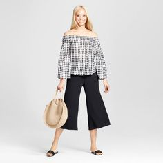 Who What Wear , Bardot Bell Sleeve Top