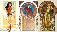 What we need in this troubled world is heroes. Who look cool. And what looks cooler than Art Nouveau? The European art style popularized in the late 19th century is synonymous with beauty, grace and total mind-blowing radness.