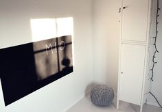 blackboard paint onto the wall