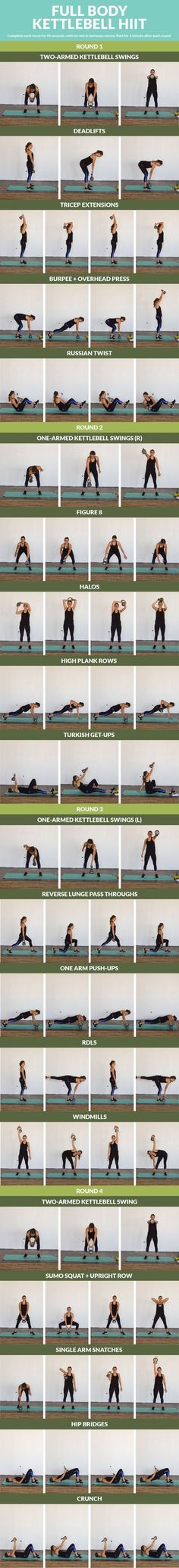 Strengthen your entire body with this 20 minute cardio and strength kettlebell combo! Mix up your regular workout routine with these fun, yet effective kettlebell exercises. You'll tone multiple mu… #kettlebellcardioworkout