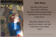 Hail Mary full of Grace the Lord is with you.... #prayer #christian #catholic #intercession