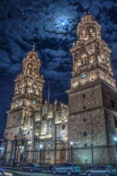 My beautiful city catedral Morelia Michoacan Mexico