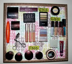 Sarah with an H: Magnetic Make-Up Board I will be trying this!!