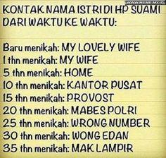 Kontak nama istri di HP suami - #MemeLucu #MemeKocak #GambarLucu