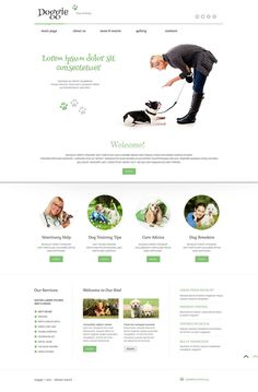 Dog Training, Grooming & Rescue WordPress Themes - Dog Training (WordPress theme) Item Picture