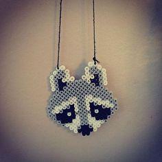 Raccoon hama beads by  emyloo23: