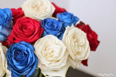 Gorgeous red, white, and blue flowers, perfect for 4th of July #BouqLove #ad