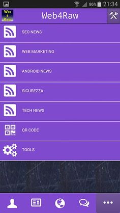 Web4Raw.com Android App  For Italian speaking people
