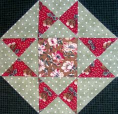 Starwood Quilter: Harvest Star Quilt Block