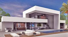Come across many a very large number luxurious features, apartments, villas, townhouses Minimalist Architecture, Modern Architecture House, Architecture Design, Luxury Homes Exterior, Modern House Facades, Modern Villa Design, Luxury House Plans, Luxury Houses, Mansion Interior