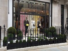 Christian Dior, Mayfair, London. Pinned by www.vessou.com Made in England. Timeless design, handcrafted #pots #planters #vasi #interiors #interiordesign