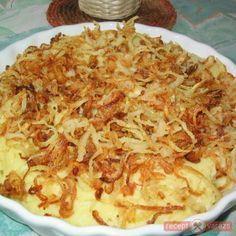 Sült hagymás puliszka Ketogenic Recipes, Diet Recipes, Vegan Recipes, Cooking Recipes, Hungarian Desserts, Hungarian Recipes, Side Dish Recipes, Side Dishes, Food Humor