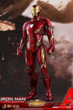 Marvel Avengers Infinity War Iron Man from Hot Toys Iron Man Avengers, Iron Man Suit, Iron Man Armor, Marvel Comics, Marvel Avengers, Hot Toys Iron Man, Iron Man Action Figures, Iron Man Wallpaper, Die Rächer