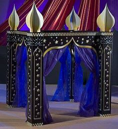 Arabian Paradise Gazebo - Item # KSEARP - DIY Disney Inspired Reception - Use this item for your Cake or the Couples table. [Aladdin] - note: you will need creative help to put this item together. i smell another theme party! Festa Tema Arabian Nights, Arabian Nights Prom, Arabian Nights Theme, Arabian Theme, Arabian Party, Arabian Decor, Arabian Bedroom, Aladdin Party, Aladdin Costume