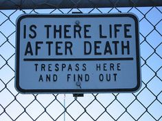 Life after death - find it here