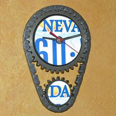 31a457aa16a5 www.stevenshaver.com license_plate_car_parts_wall_clock_nv.jpg Gear Clock,  How To Make Wall Clock