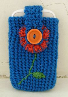 Flower Phone Case #crochet #phone_case #pattern