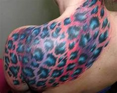Leopard Print  Cheetah Animal Girly Tattoo Girl I'd get this except on a smaller scale and in rainbow print