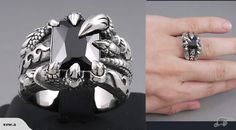 DRAGON CLAW Black Onyx Solid .925 Silver Ring | Trade Me