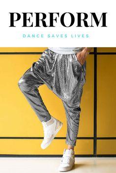 Performance shiny jogger dance hip hop pants.