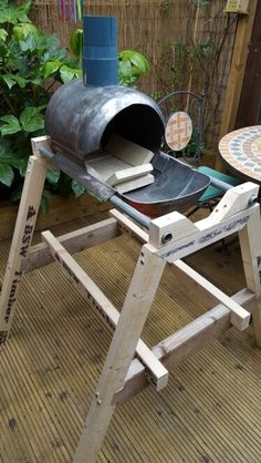 Almost completed smallish charcoal knife forge ...