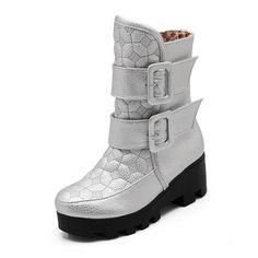 Platform Warm Short Boots