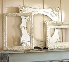 I really like these antique-looking frames and I've seen them in so many cute nurseries. I think I could make one pretty easy!