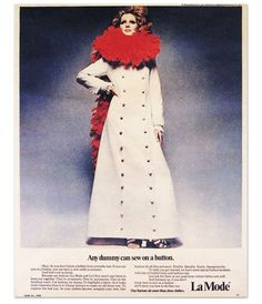 ButtonArtMuseum.com - La Mode Our buttons do more than close clothes.  Magazine Ad from June 21, 1970