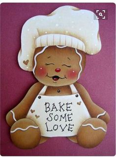 gingerbread ornaments Bake Some Love Gingerbread, would be so cute paper pieced and framed, to sit in the kitchen at Christmas. Gingerbread Ornaments, Gingerbread Decorations, Christmas Gingerbread, Christmas Art, Christmas Holidays, Christmas Decorations, Christmas Ornaments, Diy And Crafts, Paper Crafts