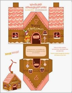 Les petites maisons en pain d'épices. (FREE PRINTABLE)