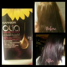 Olia Farbpalette olia by garnier this doesn t work i tried the violet shade