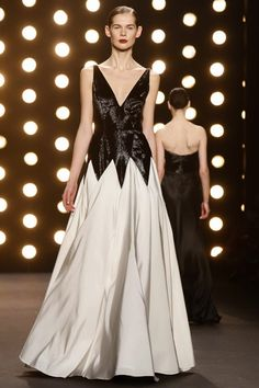 Naeem Khan Ready To Wear Fall Winter 2014 New York...Beautiful details to recreate. Try mixing fabric texture to achieve this look. Adjust the neckline to fit your style but keep the details. Work with your seamstress to recreate this look.